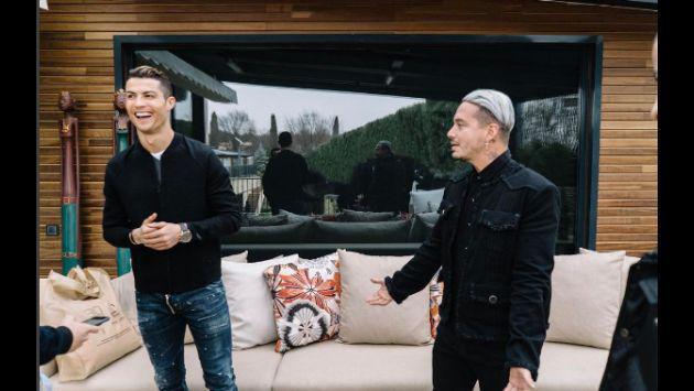 ¡Checa las fotos y el video del encuentro de J Balvin con Cristiano Ronaldo!