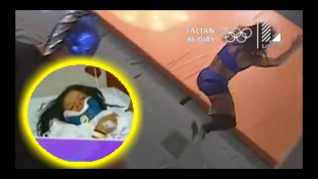 ¡Auch! Esta es la caída en 'Reto de campeones' que dejó a Josetty Hurtado en cama y con collarín