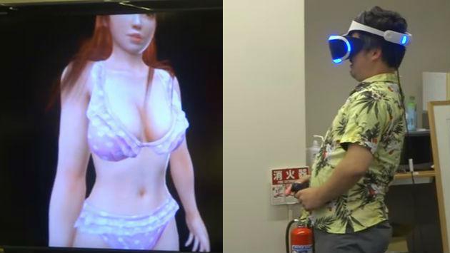 ¡Así reaccionó este hombre al probar la realidad virtual en juego con contenido erótico!