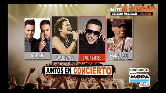 Checa a los ganadores de entradas dobles para 'Juntos en concierto'