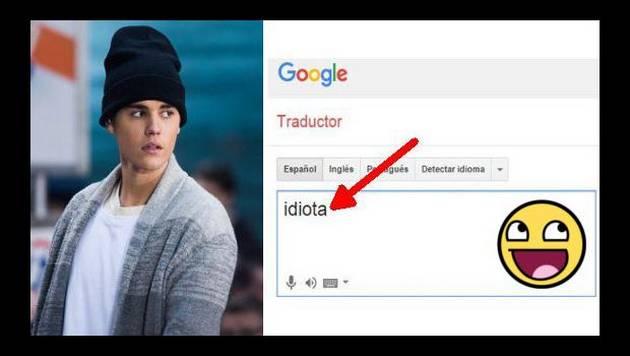 """Google traduce idiota en francés como """"Justin Bibert"""""""