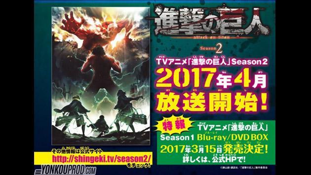 La temporada 2 de 'Shingeki no Kyojin' ya tiene fecha de estreno