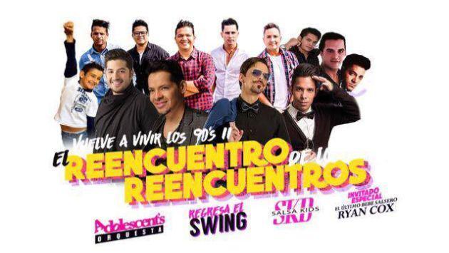 ¡Los Adolescentes, Salsa Kids y exintegrantes de Salserín llegan a Lima para conciertazo!