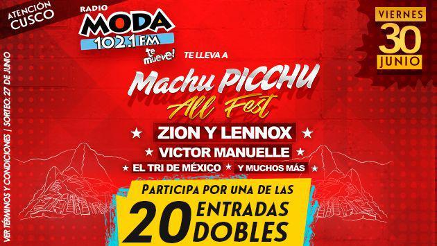 ¡Participa por entradas para el Machu Picchu All Fest  con Zion & Lennox y Víctor Manuelle!