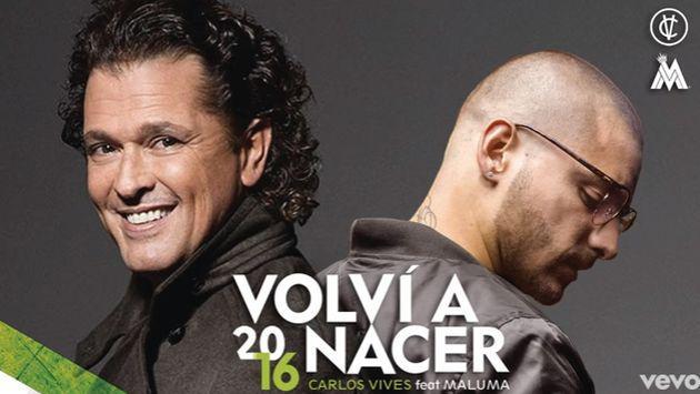 ¡Salió la versión de 'Volví a nacer' de Carlos Vives con Maluma!