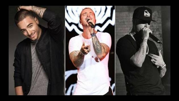 Maluma, J Balvin y Nicky Jam nominados a los Premios Billboard 2016