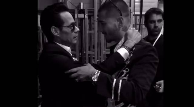 Maluma se emocionó al escuchar las emotivas palabras de Marc Anthony
