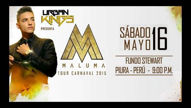 Gana entradas y una cena exclusiva con Maluma en Piura