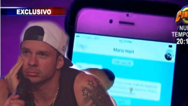 Estos chats de  WhatsApp se tumban versión de Mario sobre infidelidad a Leslie