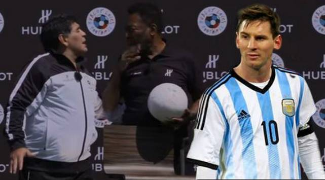 ¡Nooooooo! Mira lo que dijo Maradona sobre Messi en charla con Pelé