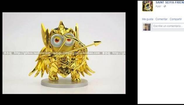 ¡Venden muñecos de 'minions' con armaduras de los Caballeros de Oro!