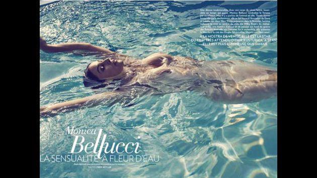 ¡A sus 51 años, Mónica Bellucci posó desnuda para revista francesa!