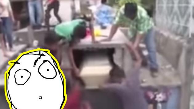 Escucharon extraños ruidos en una tumba, la abrieron y se llevaron una sorpresa [VIDEO]