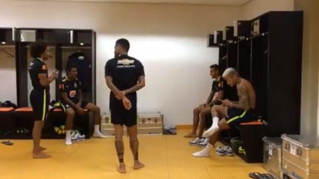¡Neymar y sus compañeros de la selección de Brasil se mandaron con este baile!