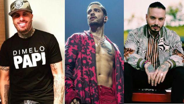 ¡Nicky Jam, Maluma y J Balvin enfrentados en los premios Billboard!