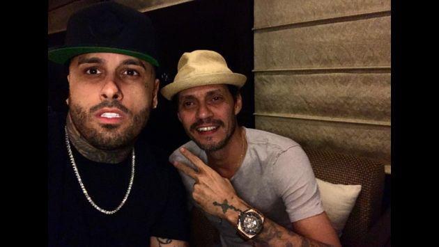 ¡Nueva foto confirmaría que Nicky Jam y Marc Anthony preparan tema!
