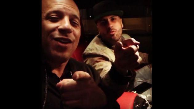 ¡Nicky Jam y Vin Diesel cantaron juntos este tema! [VIDEO]