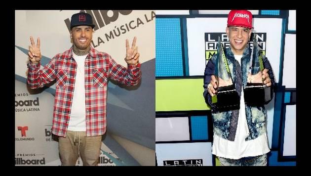 Daddy Yankee y Nicky Jam se divierten en el estudio de grabación [VIDEO]