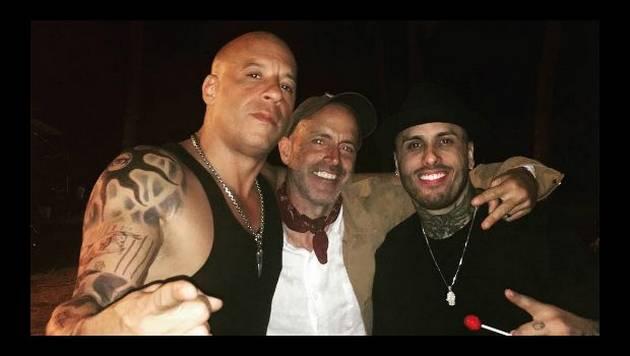 ¡Nicky Jam se divierte junto a Vin Diesel en rodaje de 'xXx'! [VIDEOS]