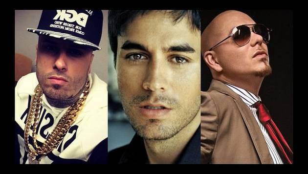 ¿Nicky Jam, Enrique Iglesias y Pitbull harán juntos una canción?