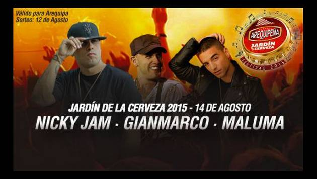 ¡10 suertudos verán gratis a Nicky Jam, Tego Calderón y Alkilados en  Arequipa!