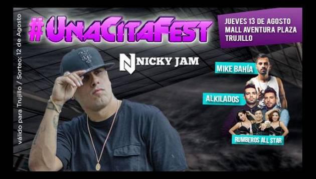 Ganadores de #unacitafest: ¡Nicky Jam, Mike Bahía y Alkilados en Trujillo!