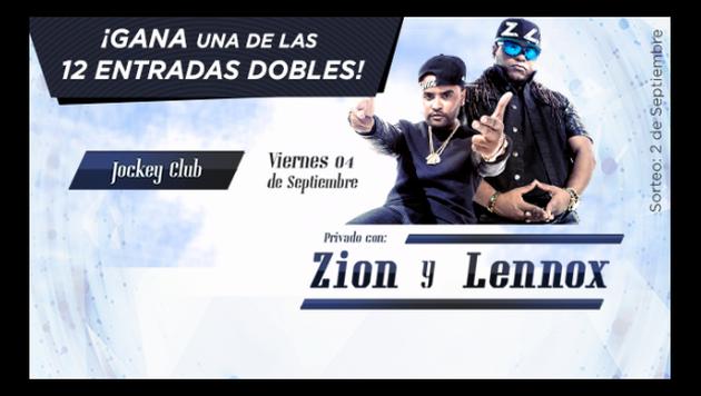 ¡Sorteamos 12 entradas dobles para concierto de Zion y Lennox en Lima!