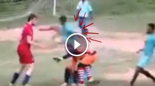 Le hicieron bullying a su amigo y lo defendió con una patada voladora