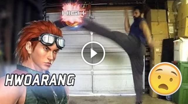 ¡Alucinante! Hombre entrena con los movimientos de Tekken