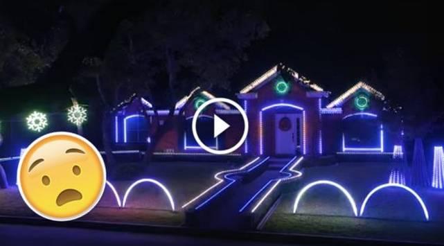 Esta casa fue decorada con las luces navideñas más alucinantes