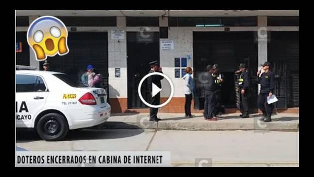 'Doteros' pasaron Año Nuevo en cabina de Internet