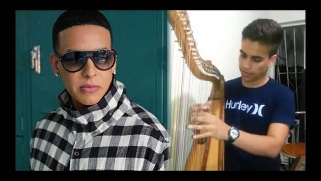 Daddy Yankee comparte esta increíble versión con arpa del tema 'Sígueme y te sigo'