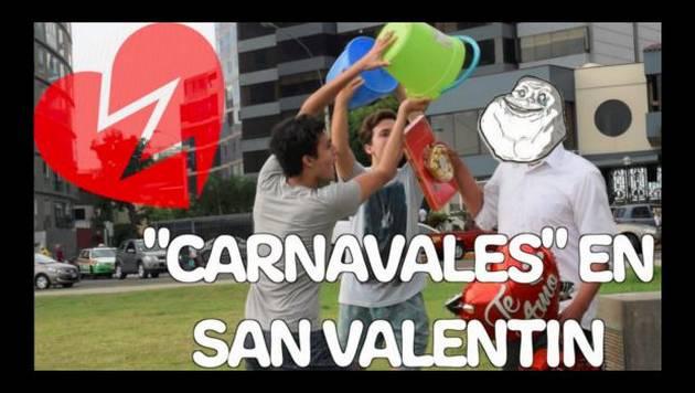 Salieron a las calles a mojar a las parejas en San Valentín ¡Mira lo que sucedió!