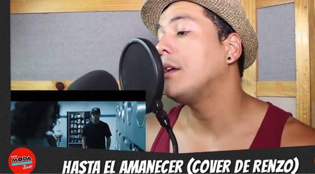 Renzo Winder hizo un cover de la canción 'Hasta el amanecer' de Nicky Jam