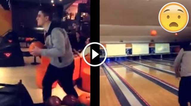 No intentes hacer esto en el bowling ¡Pasarás el 'roche' de tu vida!