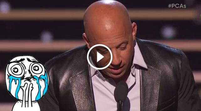 Vin Diesel recuerda a Paul Walker y le canta esta canción en los People's Choice Awards 2016