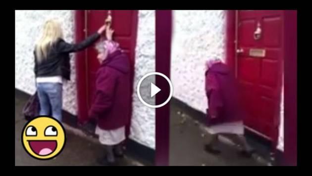 Mira cómo se vacila esta abuela de 81 años jugando 'toca timbre'