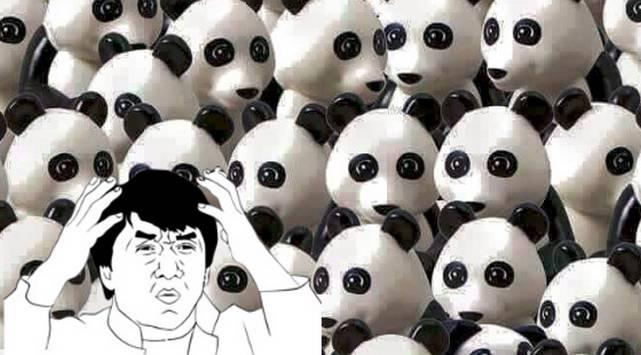 Reto: Encuentra al perro que se esconde entre los osos panda
