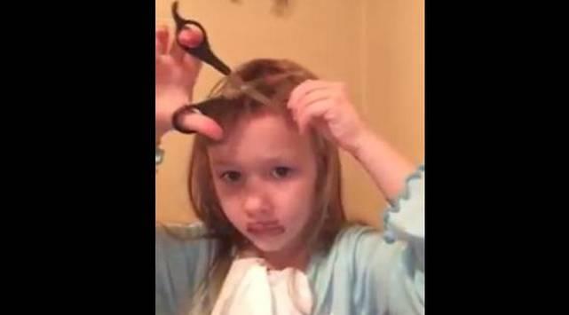 ¡Niña grabó un tutorial de belleza y terminó con el cabello rapado!