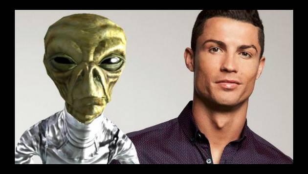 Cristiano Ronaldo se convierte en un extraterrestre en Instagram