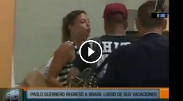 ¡Qué roche! Paolo Guerrero rechaza beso de Alondra García Miró