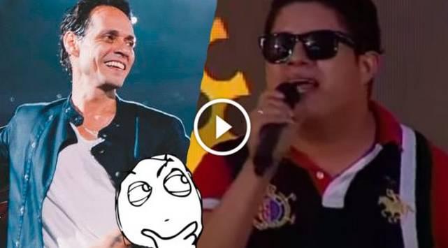 Aparece nuevo imitador peruano de Marc Anthony ¡Mira su presentación!