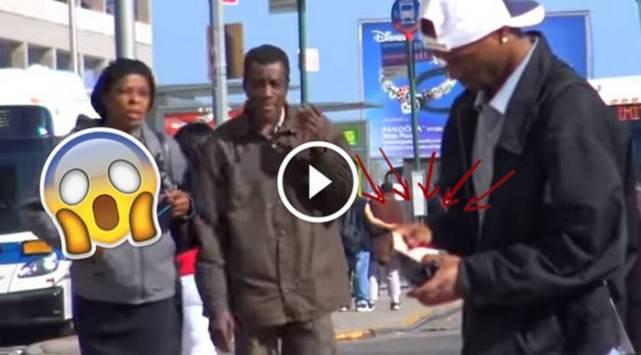 Encontró una billetera en la calle, lo siguieron y jamás imaginaron lo que haría