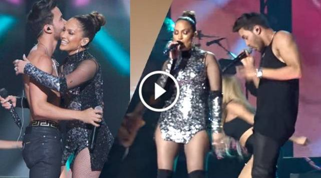 Prince Royce y Jennifer Lopez derrocharon sensualidad en el concierto iHeartRadio Fiesta Latina