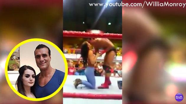 Paige le pidió matrimonio a Alberto del Río en el ring. ¿Qué dirá WWE? [VIDEO]