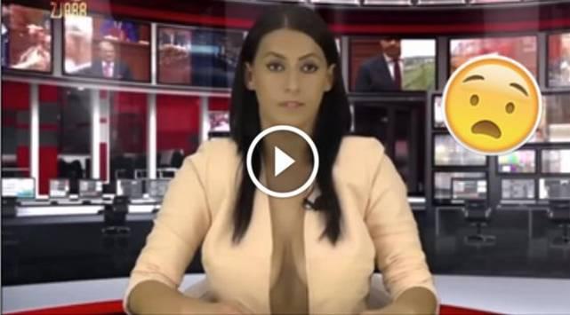 Presentadoras de noticias doblan audiencia con coquetos escotes