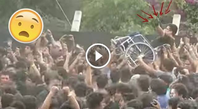 Fanático en silla de ruedas pogueó en concierto en Lima