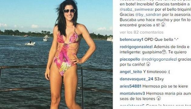 Maria Pía Copello sorprendió a fans con fotos en bikini