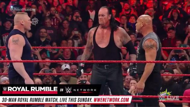 Por primera vez, WWE juntó a Goldberg, Brock Lesnar y Undertaker [VIDEO]