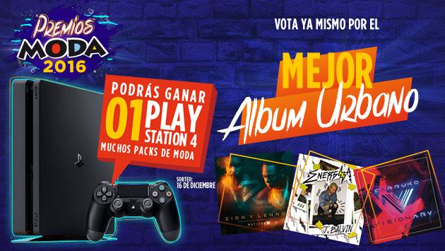 ¡Elige el 'Mejor álbum urbano' de los Premios Moda 2016 y llévate un Play Station 4!